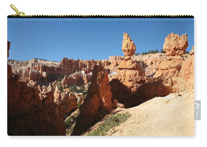 Canyon Carry-all Pouch featuring the photograph Bizarre Shapes - Bryce Canyon by Christiane Schulze Art And Photography