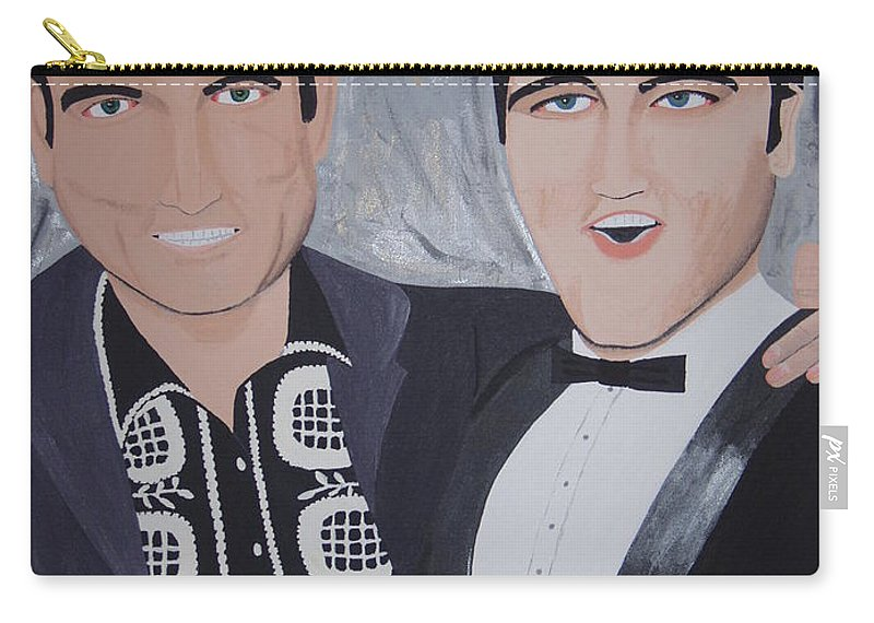 Painting Carry-all Pouch featuring the painting Black And Blue by Dean Stephens