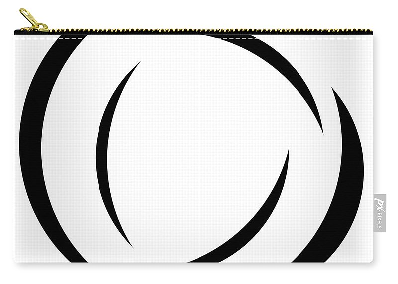 Black And White Carry-all Pouch featuring the digital art Black And White - 105 by Ely Arsha