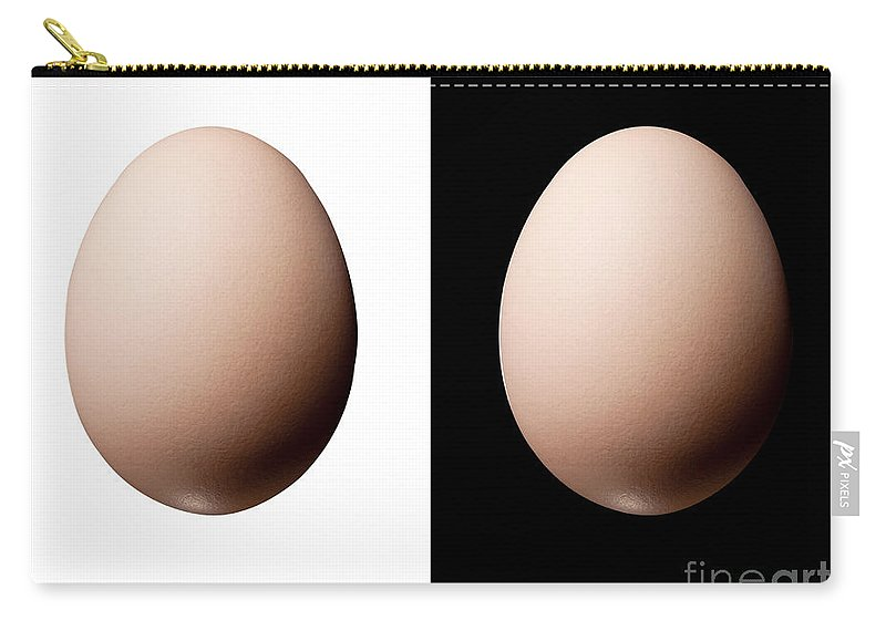 Agriculture Carry-all Pouch featuring the photograph Black And White Eggs by Tim Hester