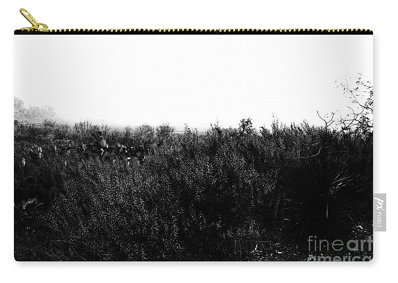 Wildflowers Carry-all Pouch featuring the photograph Black And White Magic V2 by Douglas Barnard