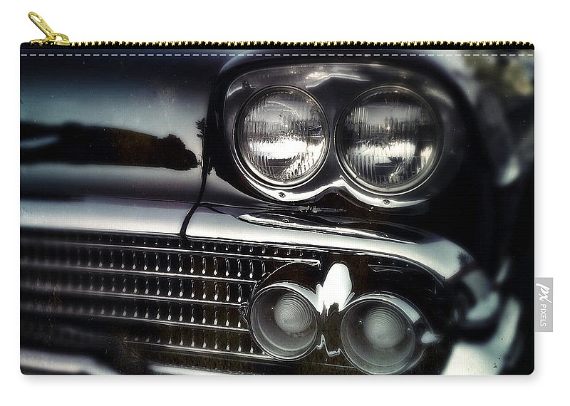 Classic Carry-all Pouch featuring the photograph black Cadillac by Tim Nyberg
