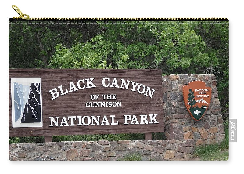 Black Canyon Of The Gunnison National Park Carry-all Pouch featuring the photograph Black Canyon Of The Gunnison National Park by Dan Sproul
