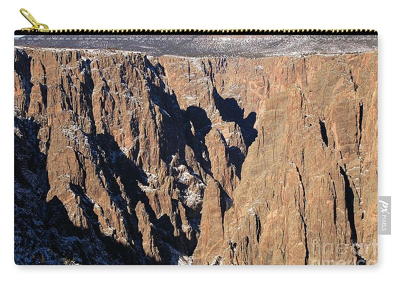 Black Canyon Of The Gunnison Carry-all Pouch featuring the photograph Black Canyon Pinnacles by Adam Jewell