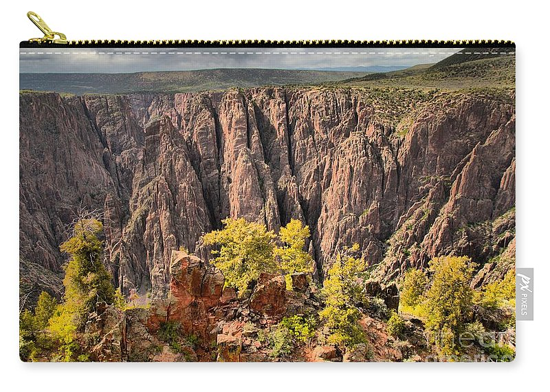 Black Canyon Carry-all Pouch featuring the photograph Black Canyon Spires by Adam Jewell
