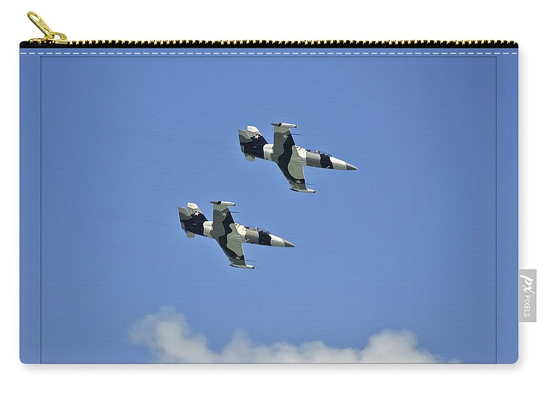 L-39s Carry-all Pouch featuring the photograph Black Diamonds In The Sky by DigiArt Diaries by Vicky B Fuller
