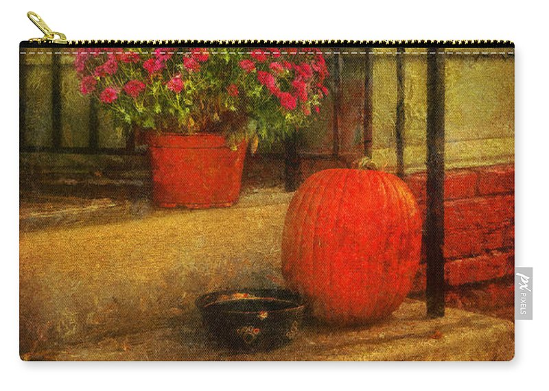 Steps Carry-all Pouch featuring the photograph Black Dog Coffee And Catering by Lois Bryan