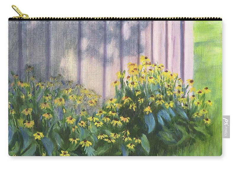 Flowers Carry-all Pouch featuring the painting Black Eyed Susans by Deborah Butts