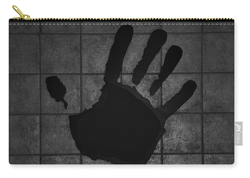 Hand Carry-all Pouch featuring the photograph Black Hand by Rob Hans