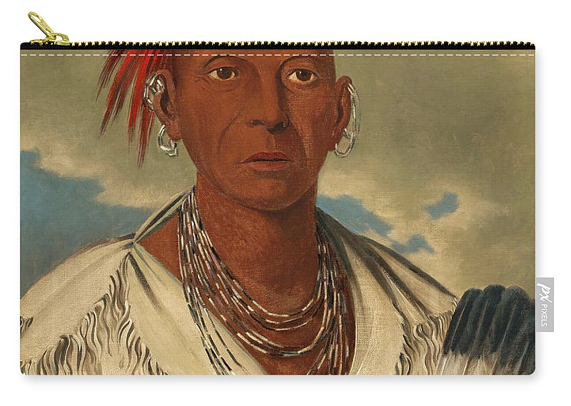 George Catlin Carry-all Pouch featuring the painting Black Hawk. Prominent Sauk Chief. Sauk And Fox by George Catlin
