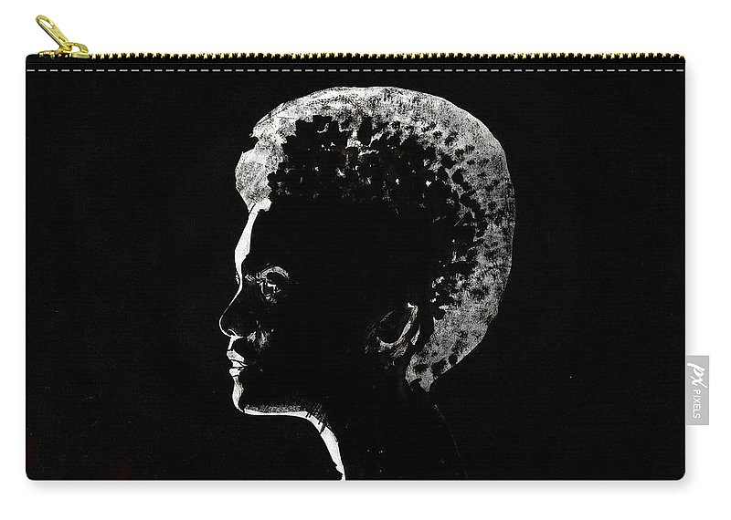 Black Woman Carry-all Pouch featuring the painting Black Is Beautiful by Olga Kaczmar