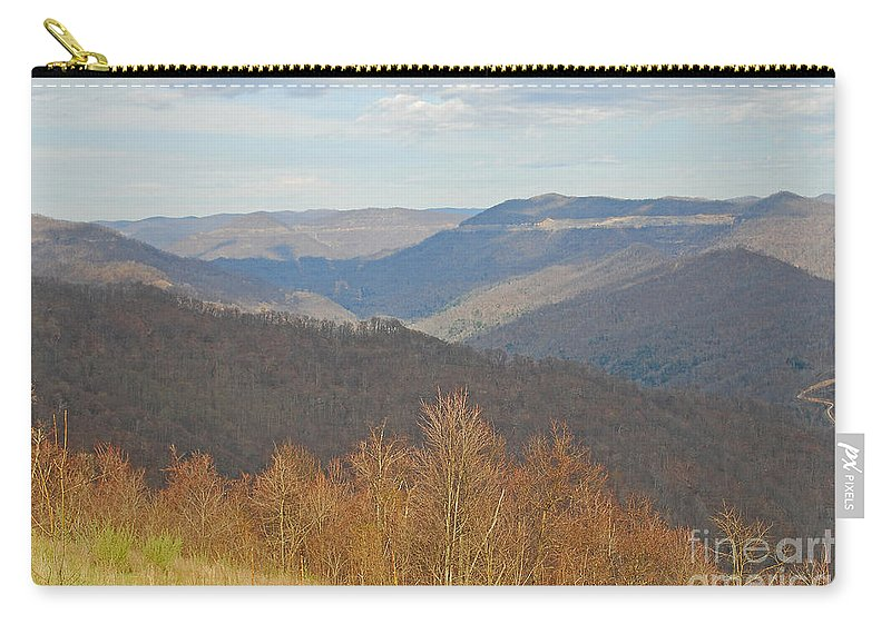 Spring Carry-all Pouch featuring the photograph Black Mountain - Kentucky by Mary Carol Story