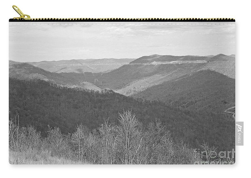 Spring Carry-all Pouch featuring the photograph Black Mountain - Kentucky Bw by Mary Carol Story