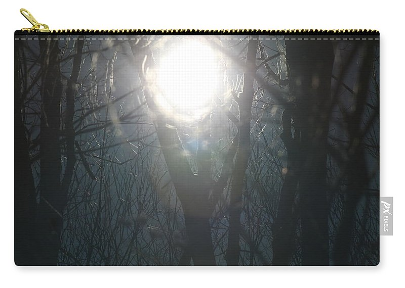 Sun And Trees Carry-all Pouch featuring the photograph Black On Sun  by Neal Eslinger