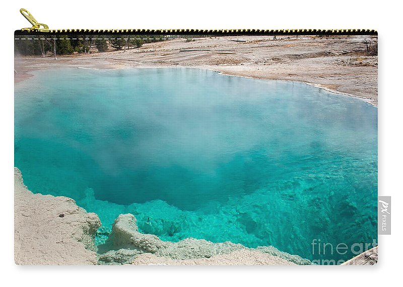 Autumn Carry-all Pouch featuring the photograph Black Pool In West Thumb Geyser Basin In Yellowstone National Park by Fred Stearns