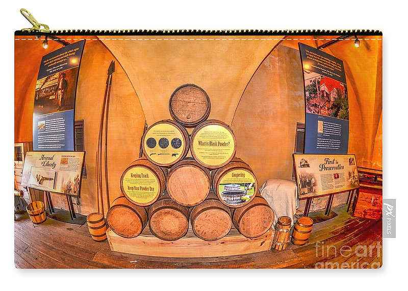 Powder Magazine Carry-all Pouch featuring the photograph Black Powder by Dale Powell
