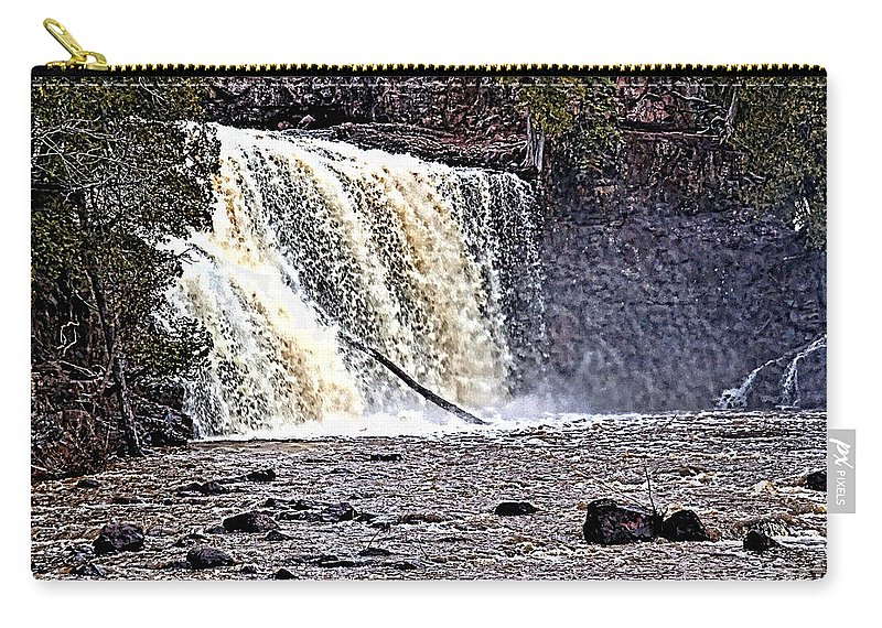Falls Carry-all Pouch featuring the photograph Black River Falls by Tommy Anderson