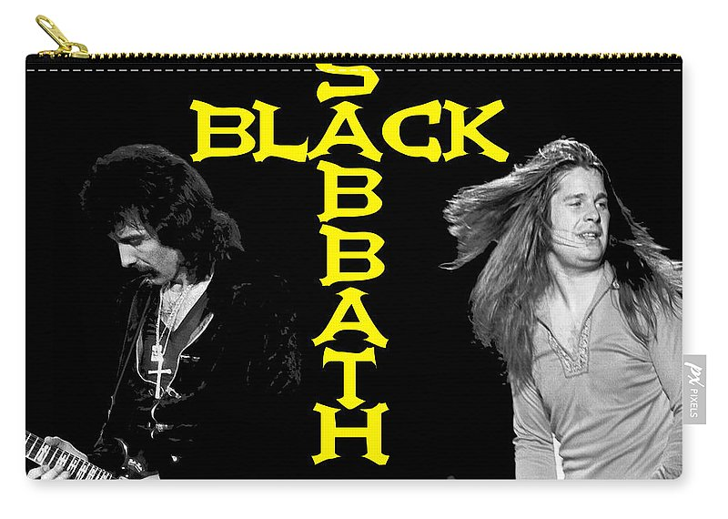Black Sabbath Carry-all Pouch featuring the photograph Black Sabbath 1978 by Ben Upham