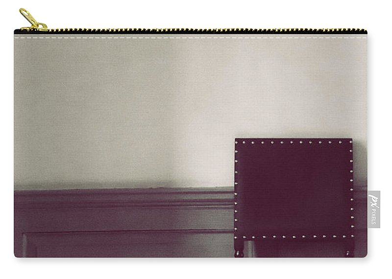 Chair Carry-all Pouch featuring the photograph Black Stud by Margie Hurwich