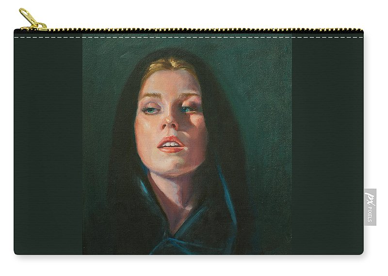 Figurative Carry-all Pouch featuring the painting Black Velvet by Sarah Parks