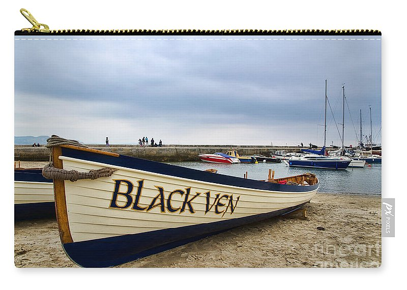 Lyme Regis Carry-all Pouch featuring the photograph Black Ven by Susie Peek