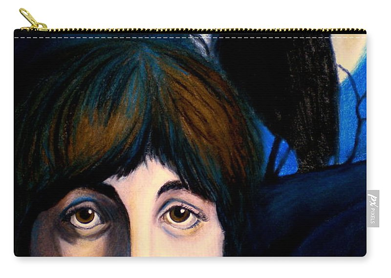 Paul Mccartney Carry-all Pouch featuring the painting Blackbird by Debi Starr
