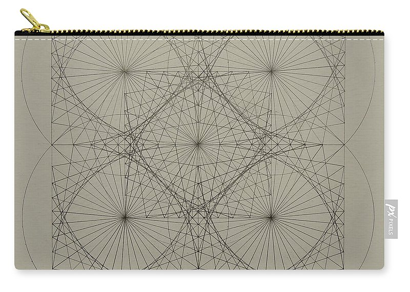 Fractals Carry-all Pouch featuring the drawing Blackhole by Jason Padgett