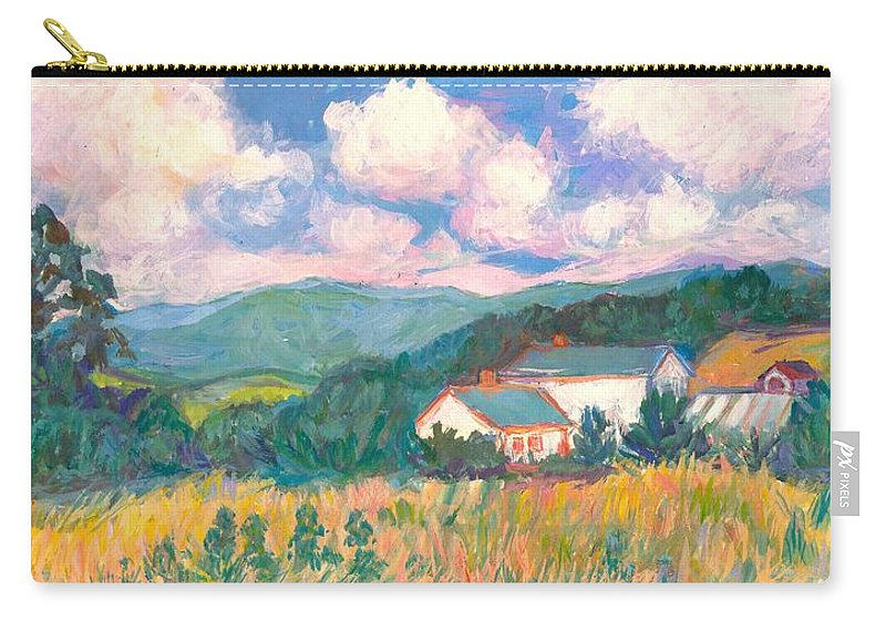 Clouds Carry-all Pouch featuring the painting Blacksburg Clouds by Kendall Kessler
