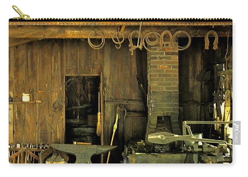Blacksmith Carry-all Pouch featuring the photograph Blacksmith Anvil by Ian MacDonald