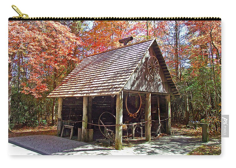 Blacksmith Carry-all Pouch featuring the photograph Blacksmith Shop In The Fall by Duane McCullough