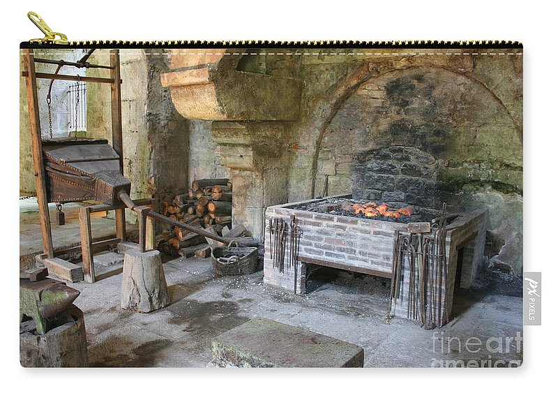 Blacksmith Carry-all Pouch featuring the photograph Blacksmiths Workshop by Christiane Schulze Art And Photography