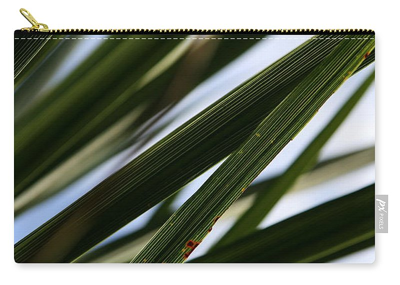 Green Carry-all Pouch featuring the photograph Blades Of Grass by Neal Eslinger