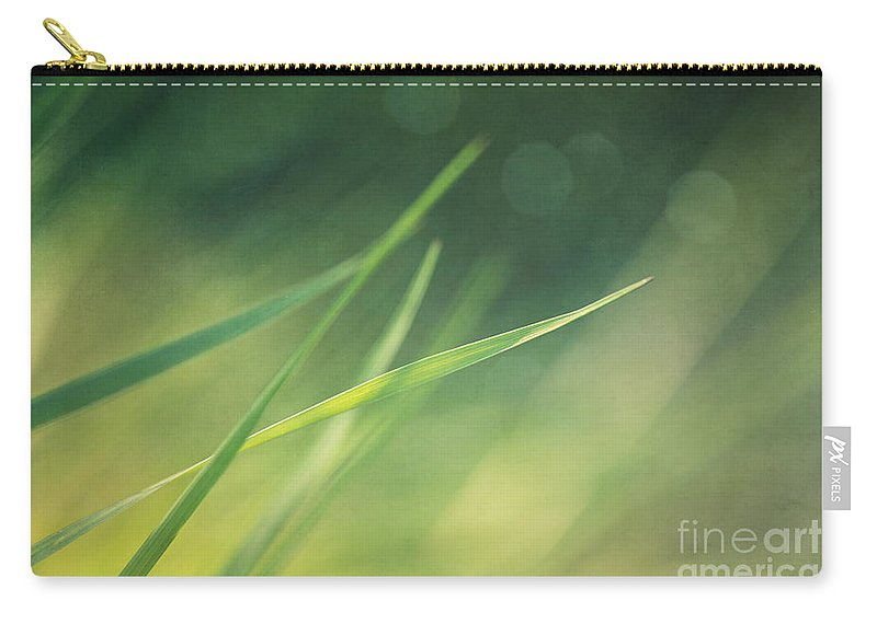 Grass Carry-all Pouch featuring the photograph Blades Of Grass Bathing In The Sun by Priska Wettstein