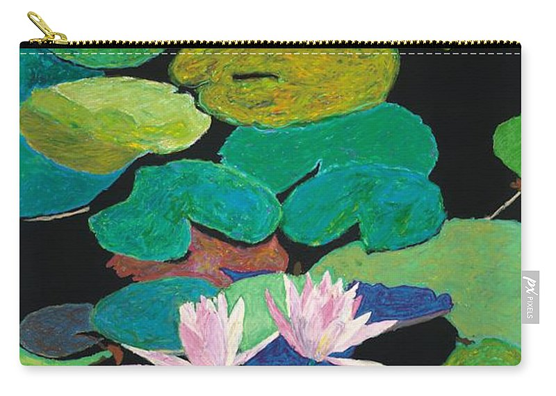 Landscape Carry-all Pouch featuring the painting Blairs Pond by Allan P Friedlander