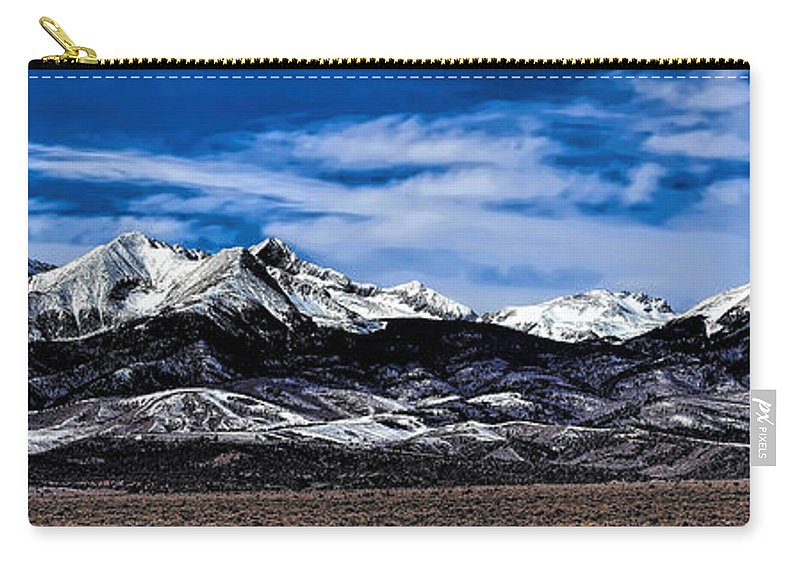 Blanca Mountains Carry-all Pouch featuring the photograph Blanca Mountains Near Fort Garland Colorado by Jon Burch Photography