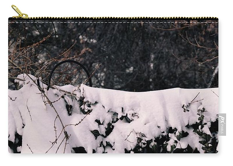 Snow Carry-all Pouch featuring the photograph Blanketed Creepers by Bonnie Myszka