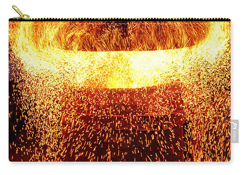 Fire Carry-all Pouch featuring the photograph Blast by Olivier Le Queinec