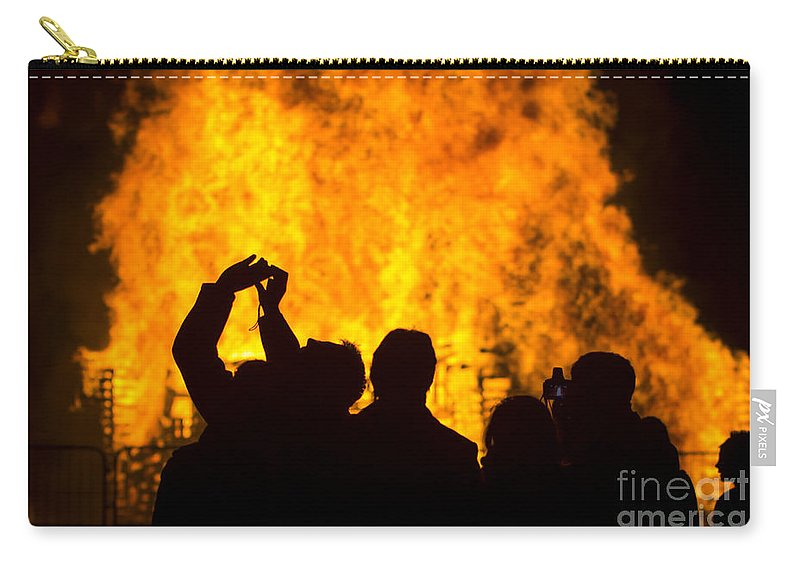 Clare Bambers Carry-all Pouch featuring the photograph Blazing Fire by Clare Bambers