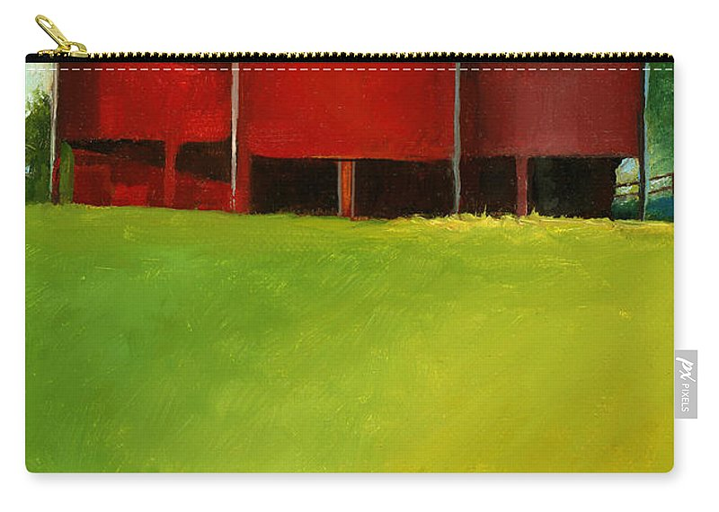 Barn Carry-all Pouch featuring the painting Bleak House Barn 2 by Catherine Twomey