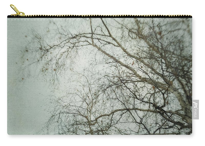 Twig Carry-all Pouch featuring the photograph bleakly II by Priska Wettstein