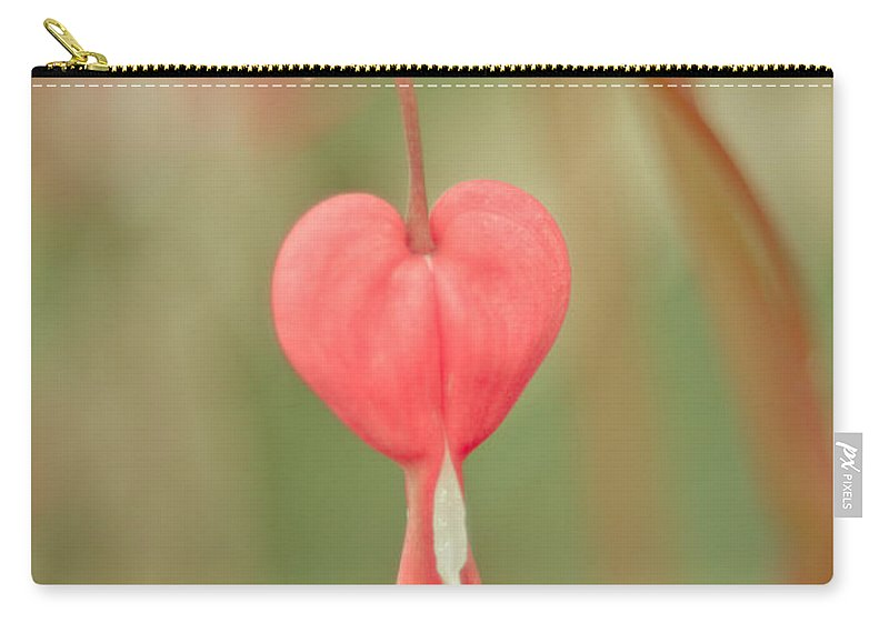 Heart Carry-all Pouch featuring the mixed media Bleeding Heart by Trish Tritz