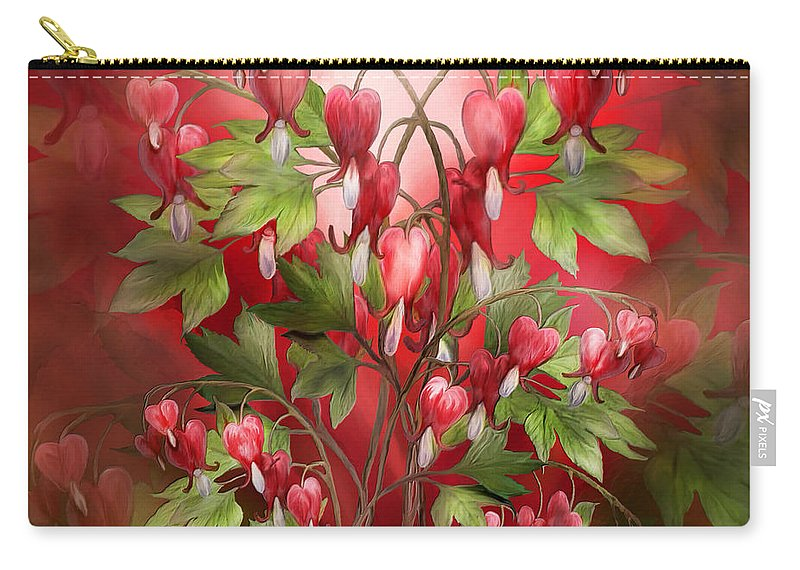 Bleeding Hearts Bouquet Carry-all Pouch for Sale by Carol Cavalaris