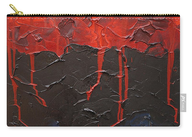 Fantasy Carry-all Pouch featuring the painting Bleeding sky by Sergey Bezhinets