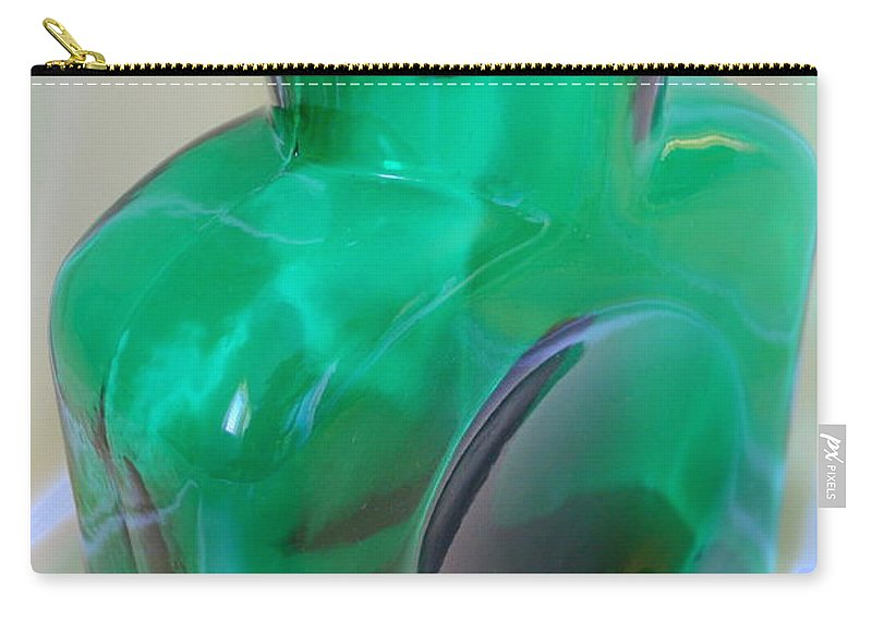 Green Carry-all Pouch featuring the photograph Blenko Green by Mary Deal