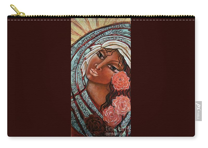 Sacred Art Carry-all Pouch featuring the painting Blessings Of The Magdalene by Maya Telford