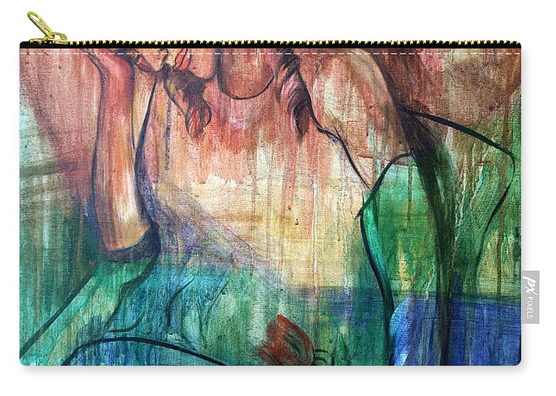 Blind Date Carry-all Pouch featuring the painting Blind Date by Anthony Falbo