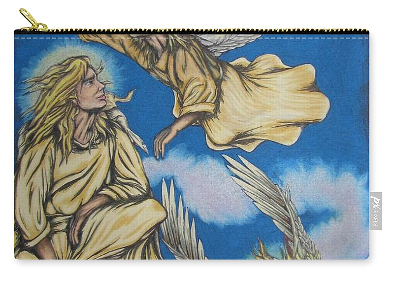 Michael Carry-all Pouch featuring the drawing Bliss by Michael TMAD Finney