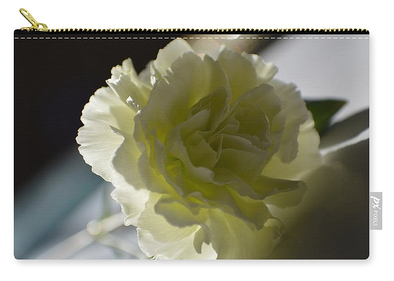 Carnations Carry-all Pouch featuring the photograph Blissful White by Sonali Gangane