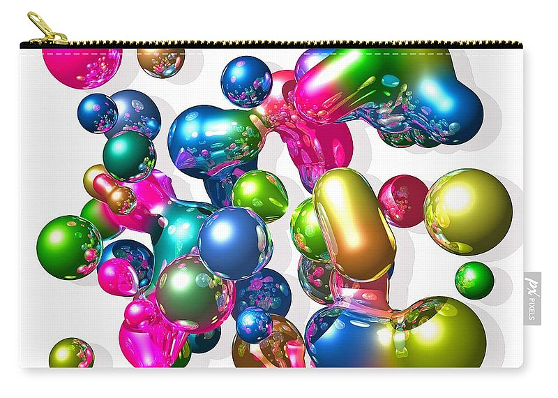 Abstract Carry-all Pouch featuring the digital art Blobs of fun... by Tim Fillingim