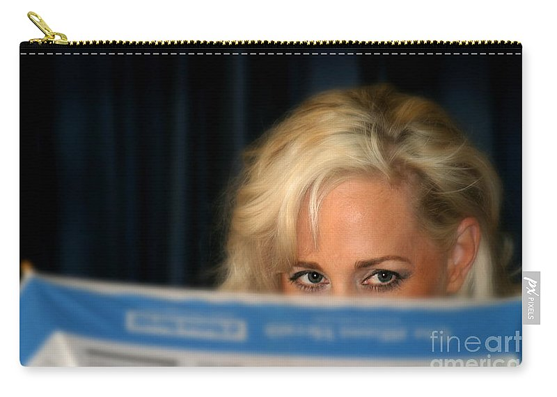 Umbrella Carry-all Pouch featuring the photograph Blond Girl by Henrik Lehnerer